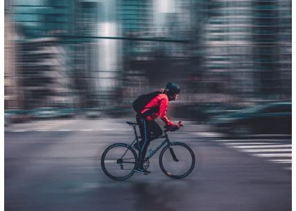 cyclist auto collision